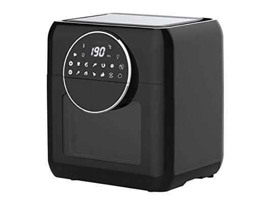 Anti-Trocknungs-Luftfritteuse, 1500-W-Minibackofen, Heißluftfritteuse mit digitaler LED-Anzeige, Obstentfeuchter, 6 Zubehörteile und Rezepte aus Edelstahl