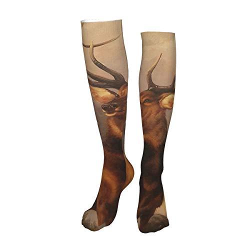 Vilico Lässige Kniestrümpfe, Overkneesocken, lange Socken, Hirsch, Unisex, Sport für Männer und Frauen