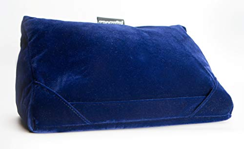 Tablet Pillow cushion Holder Stand for i-Pads,NEW in Navy Velvet,3 positions for viewing
