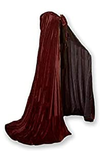 Velvet Cloak Lined in Satin Luxury Cape Fashion Vampire Costume Witch Medieval Cosplay Goth