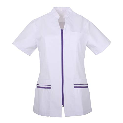MISEMIYA - Arbeitskleidung Frau Kurze ÄRMEL UNIFORM KLINIK Krankenhaus Reinigung TIERARZT Gesundheit GASTGEWERBE - Ref.702 - XX-Large, Flieder