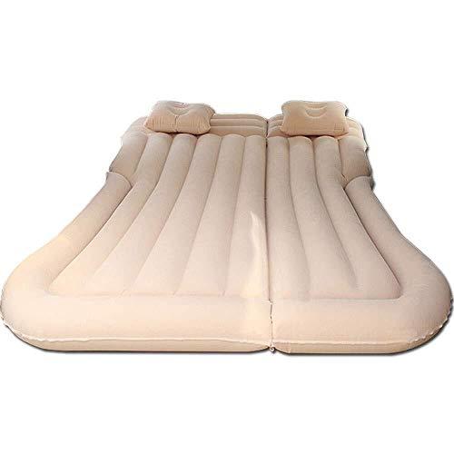 DKee Aufblasbares Bett für SUVs und Reisen, verlängerte Matratze, universelles Autokissen, beflockt, Camping-Luftmatratze für Kinder (beige)