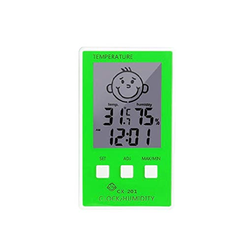 gulang-keng Elektronisches Thermometer Niedliches Cartoon Expression Smiley Thermometer und Hygrometer Multicolor Optionales digitales Thermometer
