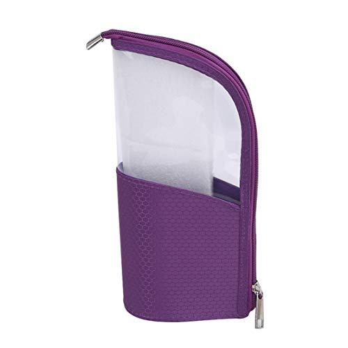 Kissherely Portable Semi-Circulaire Transparent Maquillage Sac Trousse de Toilette Voyage Sacs de Lavage pour Femmes Fille Dames,Violet
