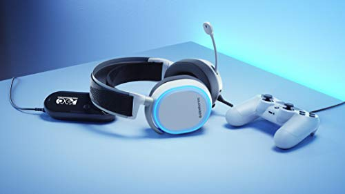 SteelSeries Arctis Pro GameDAC - Casque Gaming - Audio Haute Résolution Certifié - ESS Sabre DAC - Blanc