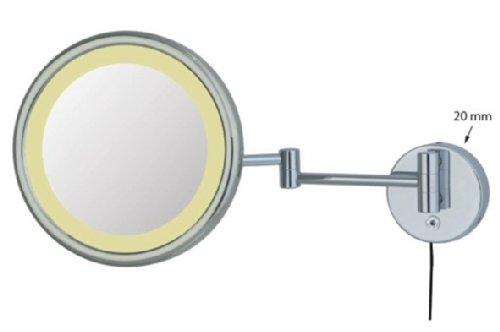 Frasco Kosmetikspiegel led 23cm zweiarmig 5-Fach Vergrößerung Chrom, 99K80x72