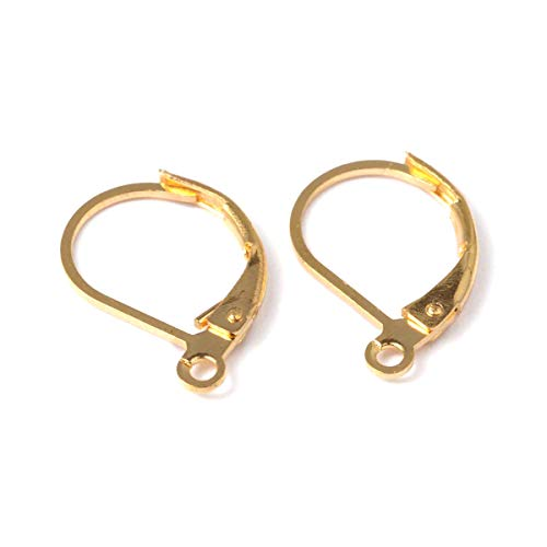 LA BOUTIQUE DE KARINE - Monachelle per orecchini in metallo, 10 x 15 mm, componenti per creazioni di bigiotteria, colore: Dorato (Confezione da 20)