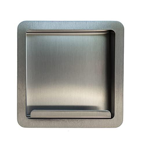 Porta rotolo | Porta carta igienica bagno a muro a incasso , acciaio inox, portarotolo , COMPONENDO , Made in Italy (Satinato)