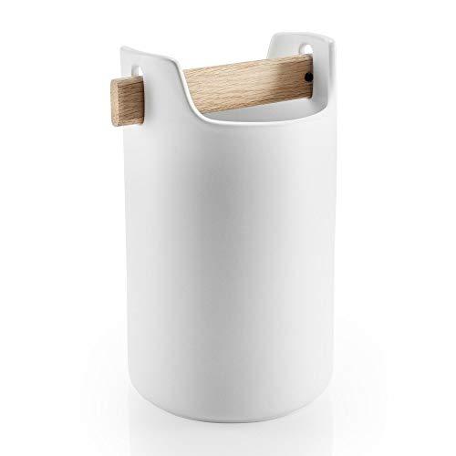 EVA SOLO Utensilienhalter für die Küche, Höhe: 20 cm, Toolbox, 530637, Keramik, Weiß, 22,1 x 16,5 x 13 cm
