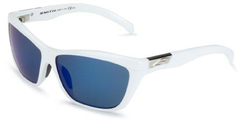 Smith Herren Sonnenbrille Aura, White/Blue Mirror, 3001102006