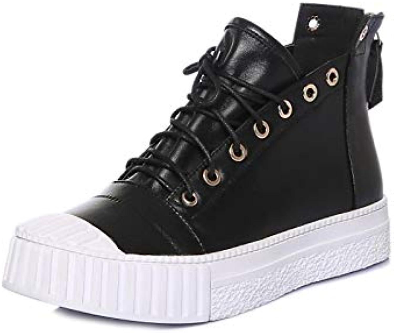Kvinnliga Comfort skor Nappa Läther Fall skor skor skor Flat Heel svart  bspringaaa  klassiskt mode