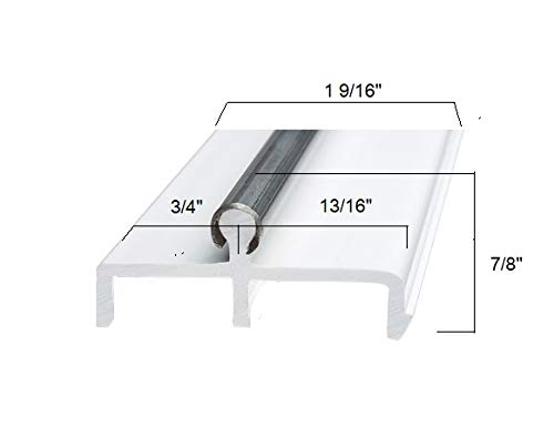 4 FT Long Randall Manufacturing 1//4 Plastic Sliding Door Track