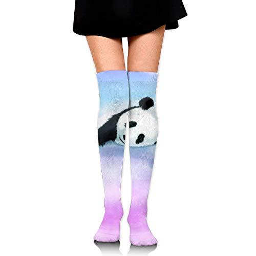 heefan Calcetines altos para mujer Panda Niños Ciclismo Fútbol Niñas Pierna Invierno Vestidos Pantalones Punto Largo Botas Medias