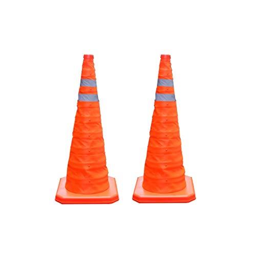 GBY Cono trafico 70cm Conos de tráfico Plegables Pop-up Conos de Advertencia...