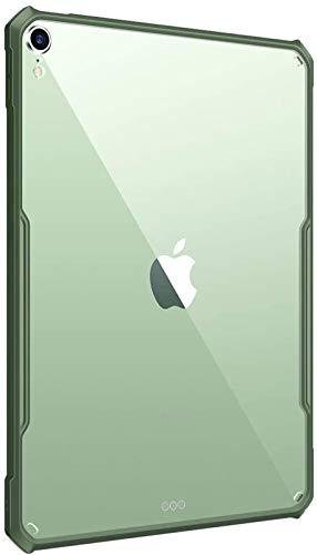 Funda para iPad Air 4 De 10,9 Pulgadas 2020 [Soporte para Carga De Lápiz De Apple] Parachoques Flexible De TPU Air-Pillow Edge Carcasa Trasera Rígida Transparente Ultradelgada para PC,Green