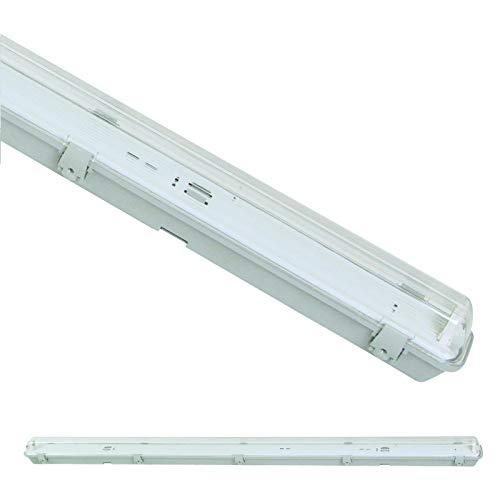 Feuchtraumfassung Feuchtraum-Wannenleuchte IP65 für eine LED Röhre Länge wählbar