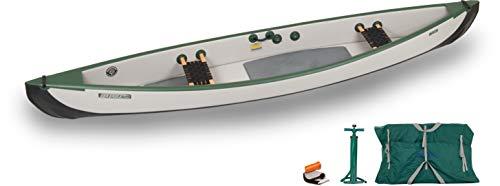 Sea Eagle TC16 Inflatable Travel Canoe Basic Package with Web Seats
