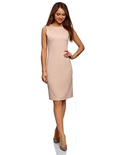 oodji Ultra Damen Enges Kleid mit Reißverschluss, Rosa, DE 34 / EU 36 / XS