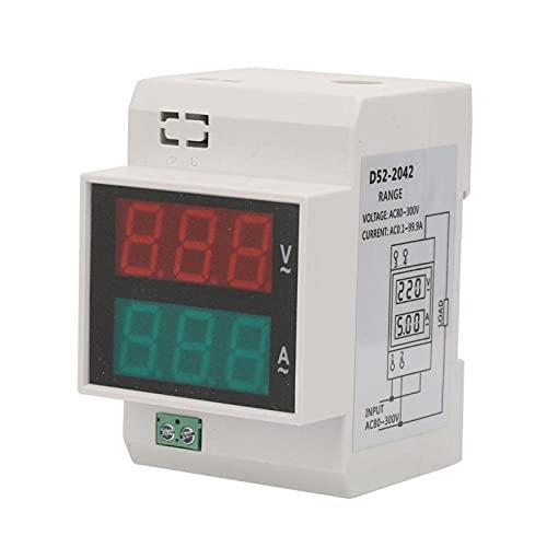 Amperímetro, junta a presión, carcasa retardadora llameante, voltímetro transparente, riel DIN de doble color, medidor doble para riel guía estándar de 35 mm(AC200-450/100A)