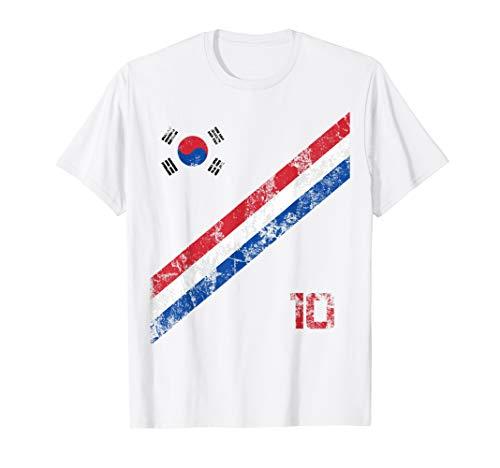 South Korea Soccer Jersey Style Football Men Women Kids Flag T-Shirt