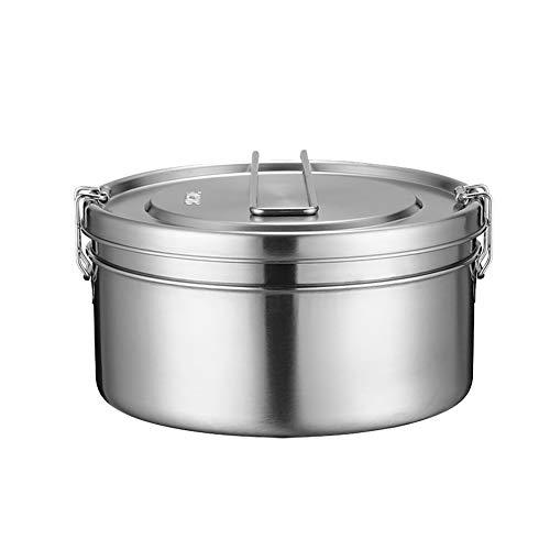 Wukai Stainless Steel 2-In-1 Round Eco Lunch Box Metal Bento BoxSustainable Zero Waste Eco Friendly Food Storage Container