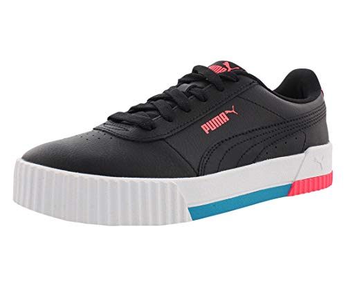 PUMA Women's Carina Sneaker, Black Blackpink Alert, 7 M US