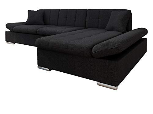 Mirjan24 Ecksofa Malwi mit Regulierbare Armlehnen Design Eckcouch mit Schlaffunktion und Bettkasten, L-Form Sofa vom Hersteller, Couch Wohnlandschaft (Boss 14, Ecksofa: Rechts)