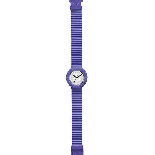 Orologio HIP HOP donna HERO 32 quadrante bianco e cinturino in silicone blu, movimento SOLO TEMPO - 3H QUARZO
