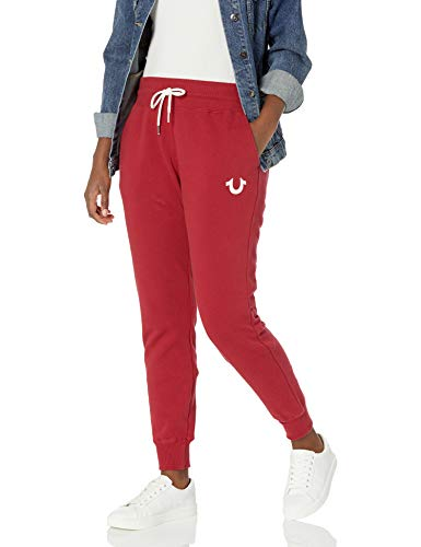 True Religion Damen Vintage Mid Rise Slim fit Jogger Sweatpant Trainingshose, blau, Groß
