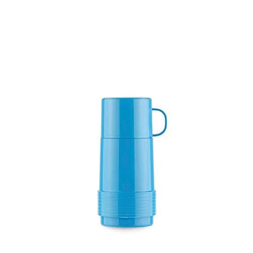 Valira Botella De Vidrio Aislante De Doble Pared con Vacio, Polipropileno, Azul, 0.25 L