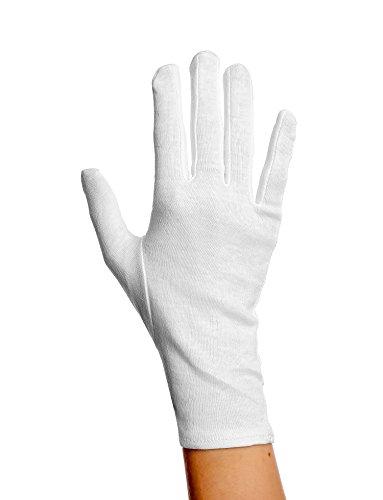 Glamory Damen Strumpf-Handschuhe Gloves Weiß, Weiß (Weiß), One size