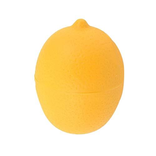 LENVHFKJ Küchenfutterknopfknopf Gemüsebehälter Zwiebel Knoblauch Avocado Tomaten Zitrone Grüner Pfeffer Frische Aufbewahrungsbox Drop (Color : Lemon)