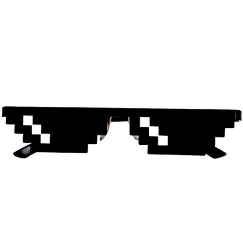 ZARLLE Thug Life 8 Bit Pixel Tratar Con Gafas Gafas