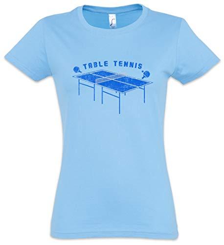 Urban Backwoods Table Tennis Table Camiseta de Mujer Women T-Shirt Azul Talla XS