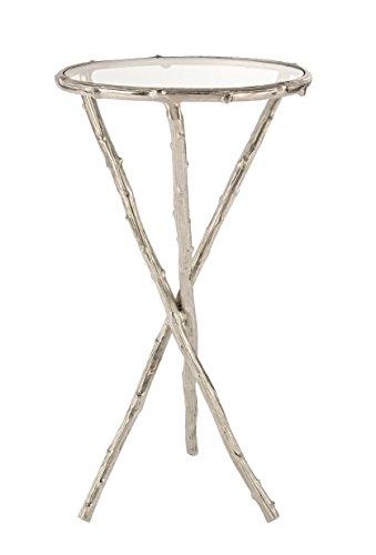 BIZZOTTO Karan Beistelltisch c-vt, Metall, Grau, 41x 41x 72cm
