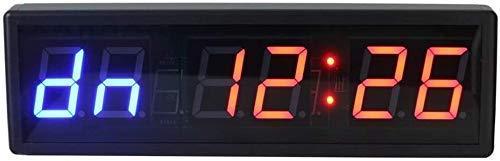MNBVC Reloj Despertador Digital Temporizador de Entrenamiento Interno Gimnasio Boxeo Cronómetro Reloj de Pared Digital LED con Control Remoto Temporizador Digital LED Pantalla Digital Grande (Color: