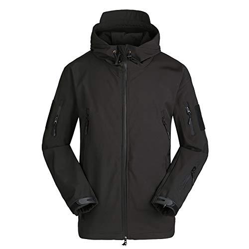 LILICHAN 남자의 군사 소프트 쉘 전술 재킷 야외 스포츠 사냥 육군 방수 겉옷 코트