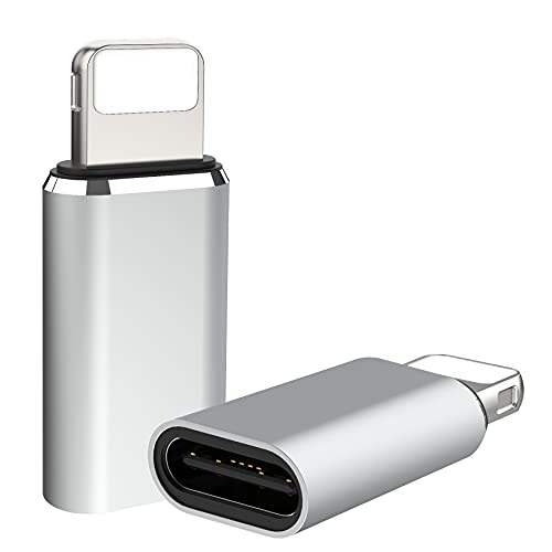 タイプCからIOSへ変換コネクタ データ伝送 アルミニウム合金 持ち運びやすい変換アダプタ 2個セット