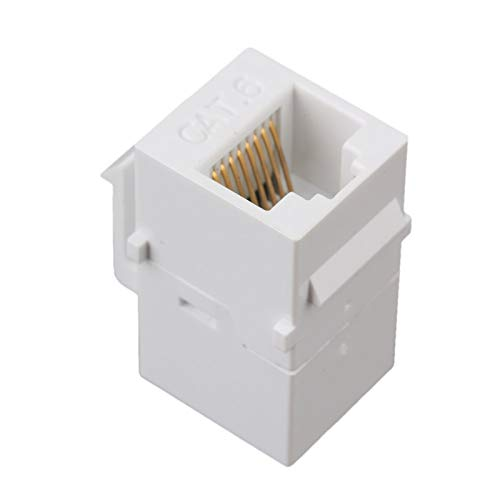 LXHY Electronic equipment 5Pcs Keystone Coupler, RJ45 Coupler Insert - Snap-in Connector Socket Adapter Port for Wall Plate Outlet Panel Safe and reliable