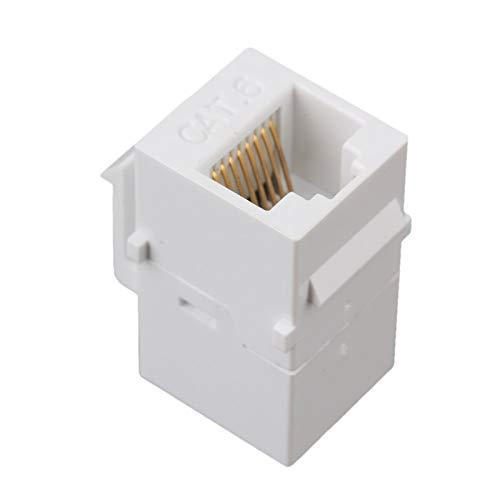LXHY Equipo electronico 5pcs Keystone Acoplador, Inserto de acoplador RJ45 - Puerto Adaptador de Enchufe de Conector a presión para Panel de Salida de Placa de Pared Seguro y confiable