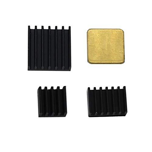 weichuang Elektronisches Zubehör schwarzer dünner Kupfer-Aluminium-Kühlkörper für 8,9 cm (3,5 Zoll) TFT-Bildschirm RPi 4B Elektronikteile Elektronikzubehör