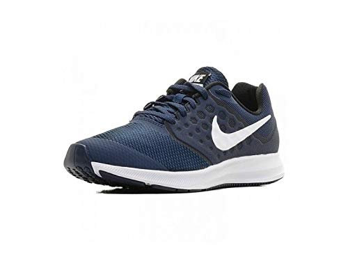 Nike Unisex-Kinder Downshifter 7 Laufschuhe, Blau (Midnight Navy/white Dark-obsidian Black), 35.5 EU