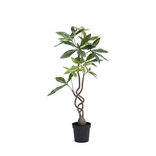 ツイストパキラポット/グリーン(P4838G)[パキラ ツイスト ツリー ポット フェイクグリーン 人工観葉植物 造花 ]