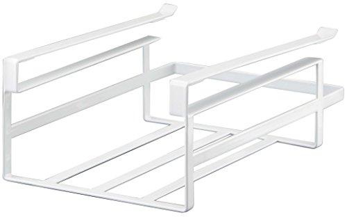 YAMAZAKI home Tower Under Shelf Storage Rack – Hanging Kitchen Holder & Organizer, White