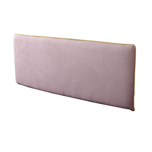 Uus Lit Soft Pack Coussin, Lit Double Grand Dossier en Tissu Amovible Lavable Coussin Repos (Gris Clair) Pillow (Couleur : No Bed, Taille : 183 * 66 * 10cm)