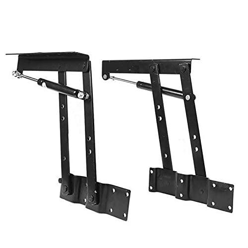 2 unids siendo resistente acero práctico elevador arriba mecanismo de mesa hardware top lifting marco escritorio plegable foldinginge
