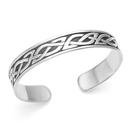 Armreif Sterling-Silber 925 keltisches Design 60 x 50 x 11 mm Geschenkverpackung 3080