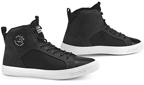 Falco Motorrad Sneaker STARBOY 2 schwarz Leder elastisch CE mit Protektoren, 45