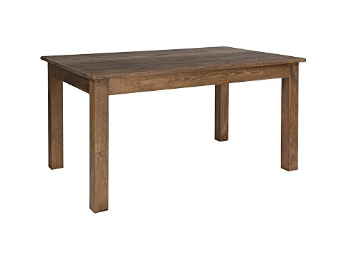 "Flash Furniture 60"" x 38"" Rectangular Antique Rustic Solid Pine Farm Dining Table"