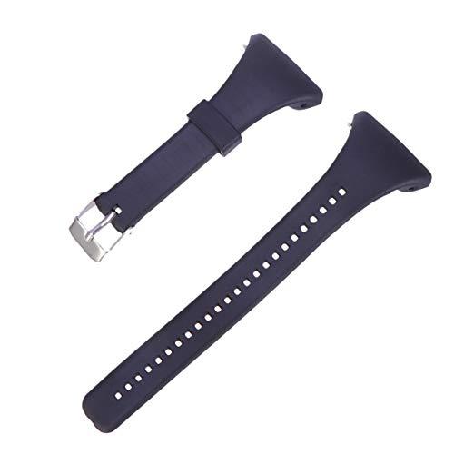 Hemobllo Uhrenarmband kompatibel mit Polar FT4 / FT7 Uhrenarmband Kunststoff-Armband Männer Ersatzriemen mit Schnellhandschlaufe für Männer und Frauen (schwarz)